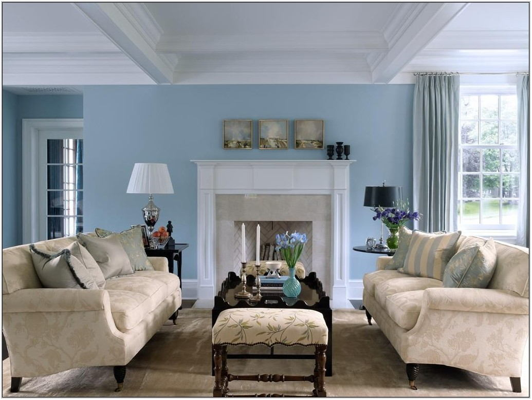 Sky Blue Living Room Decor