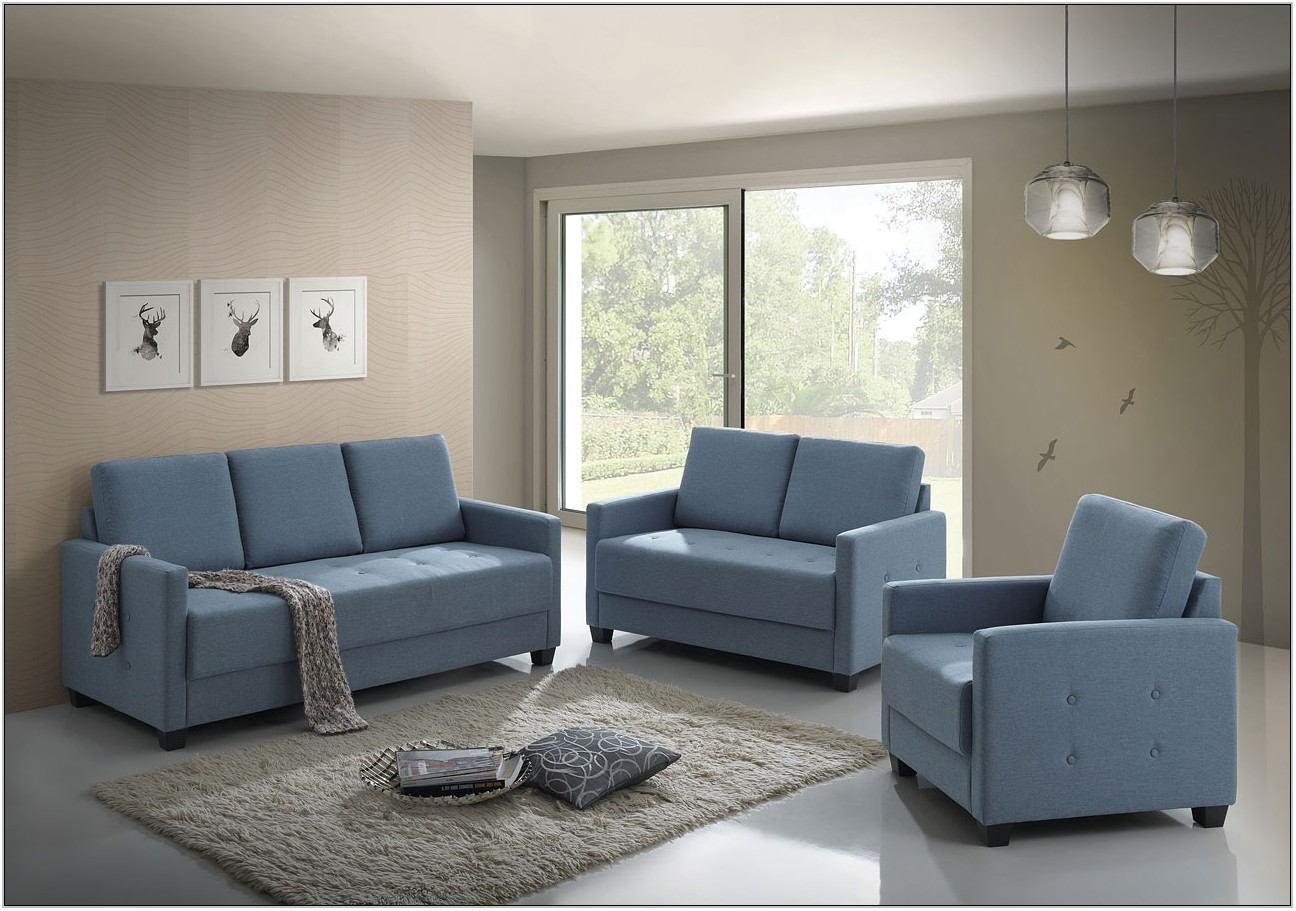 Sky Blue Living Room Furniture