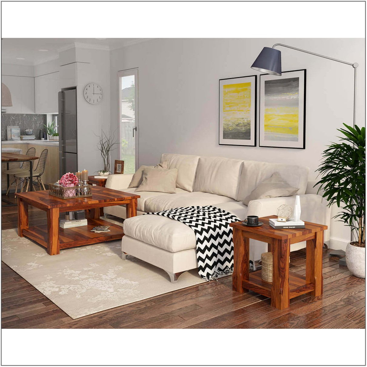 Square Coffee Table Living Room