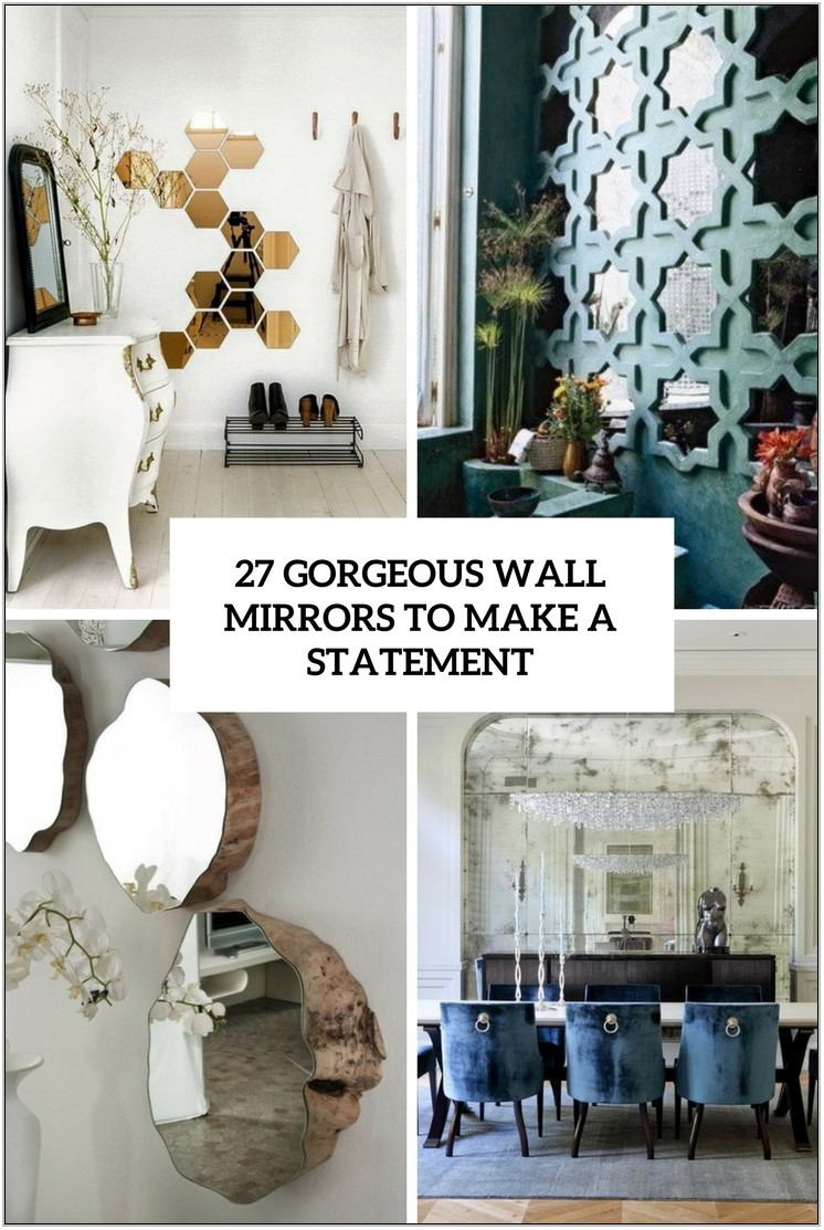 Statement Mirrors Living Room