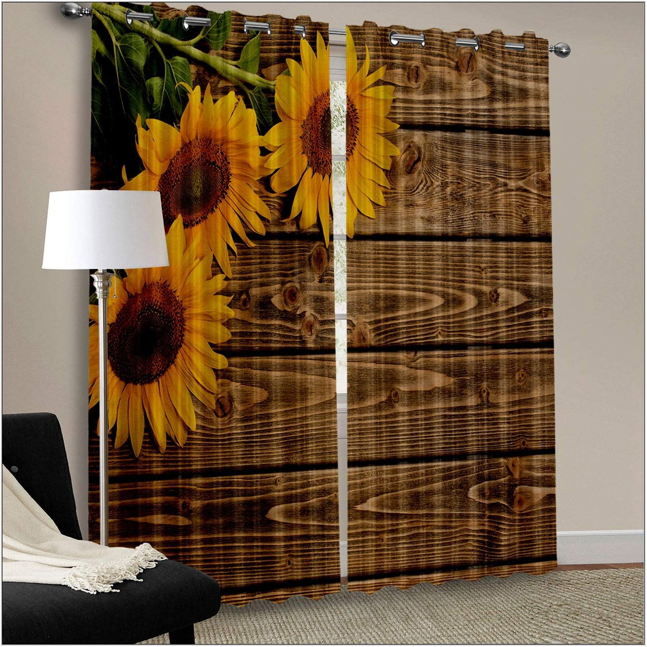 Sunflower Curtains For Living Room