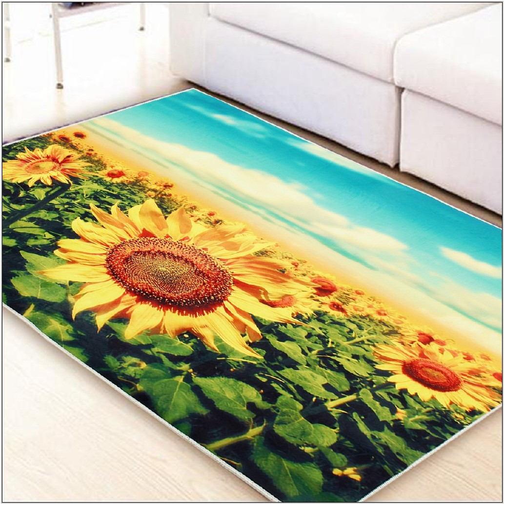 Sunflower Rug For Living Room