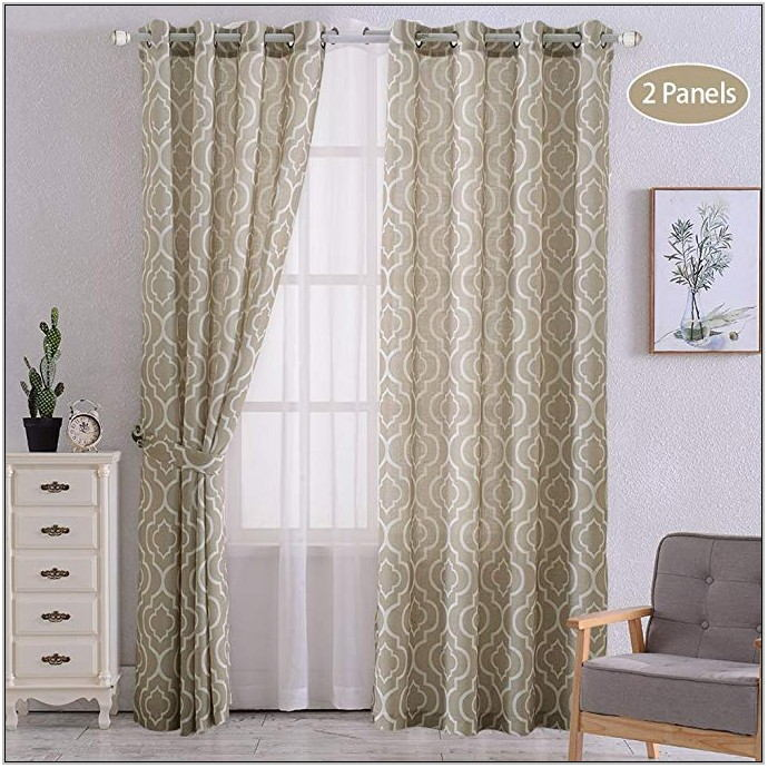Tan Curtains For Living Room