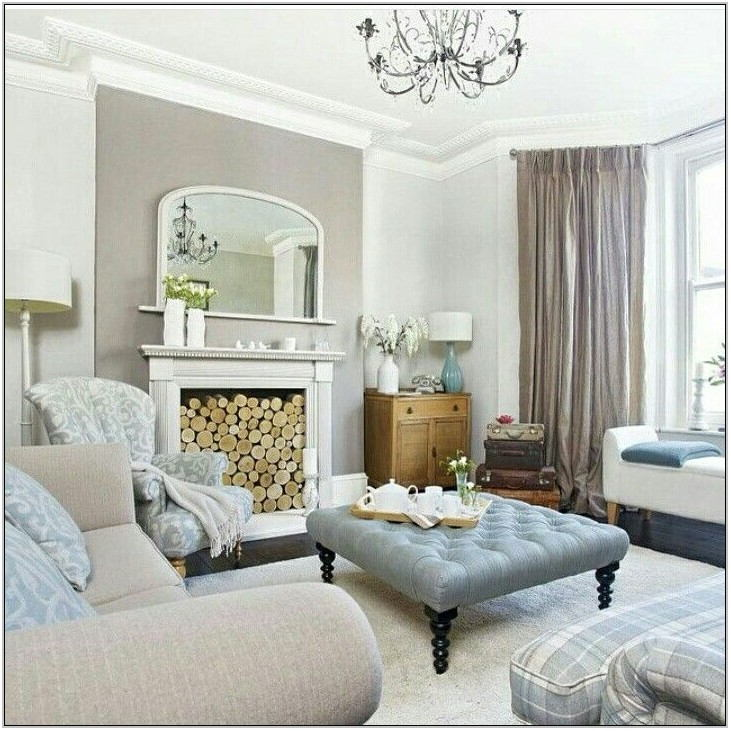 Taupe And Blue Living Room Ideas