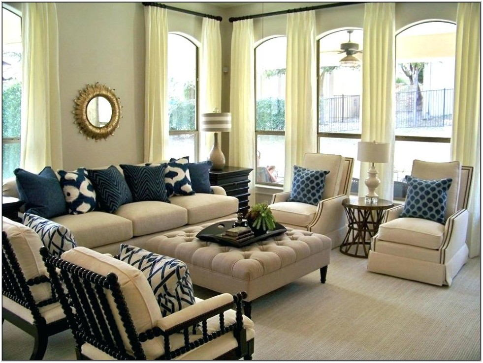 Taupe And Grey Living Room