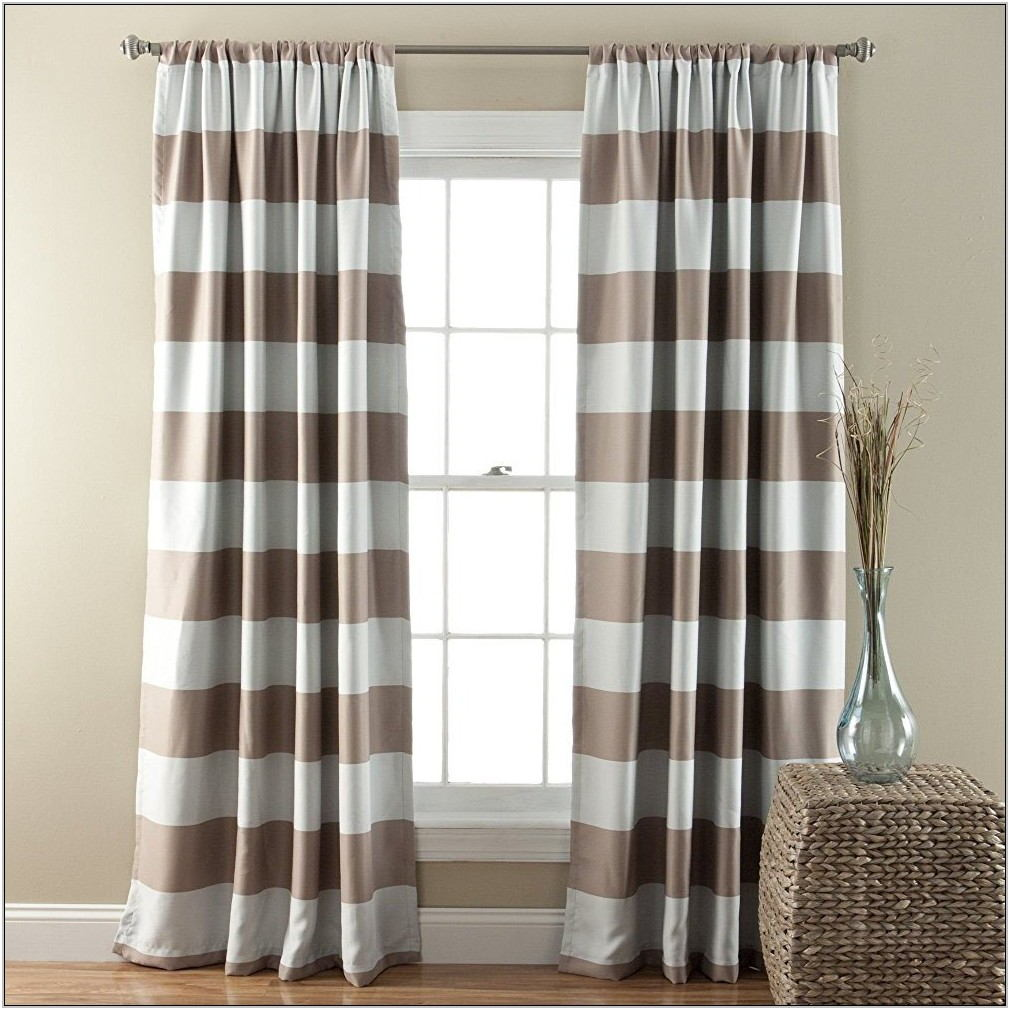 Taupe Living Room Curtains