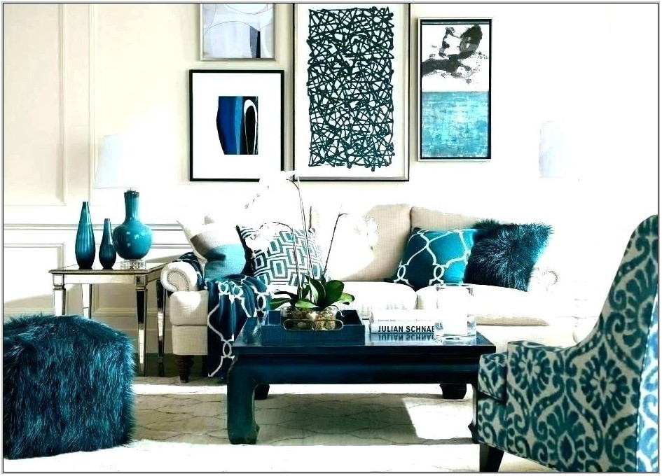 Teal And Brown Living Room Accessories