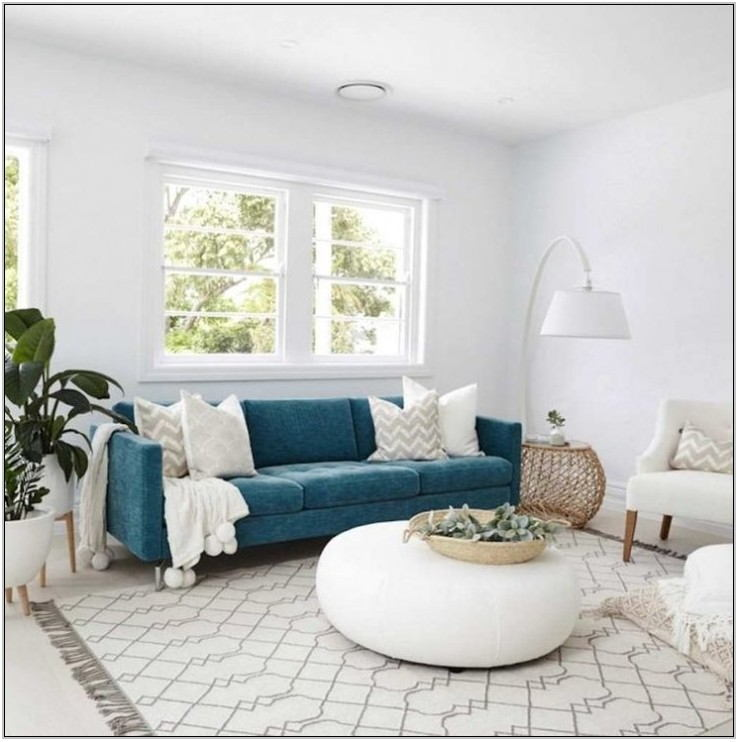 Teal Couch Living Room