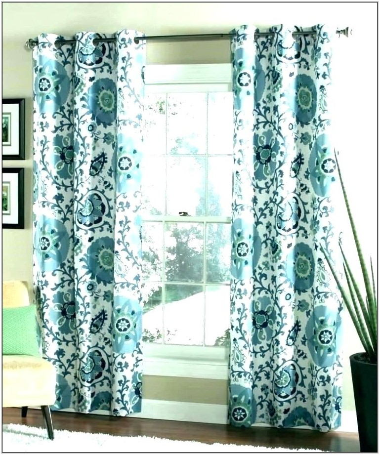 Teal Curtains Living Room