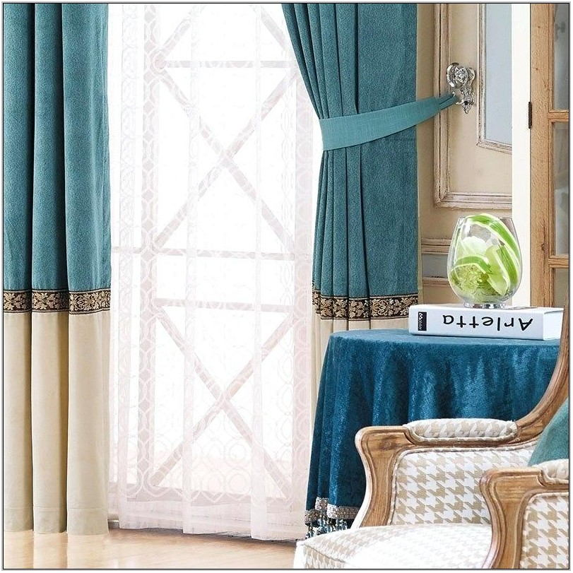 Teal Drapes For Living Room