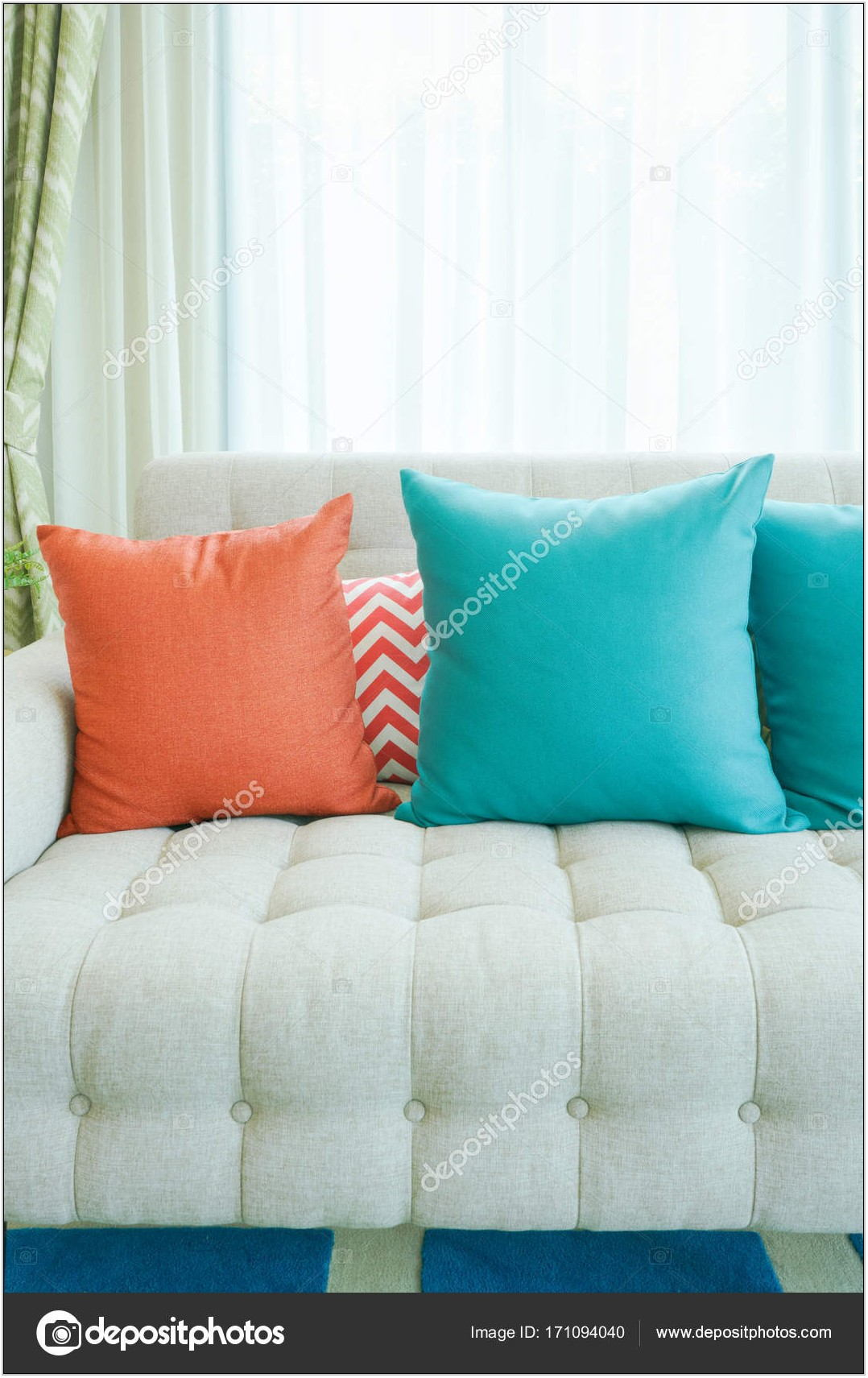Teal Living Room Pillows