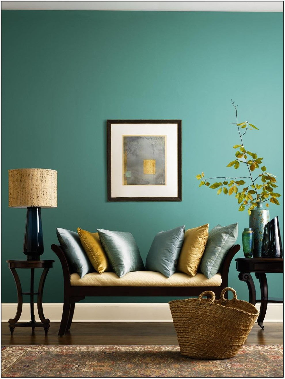Teal Paint Colors Living Room