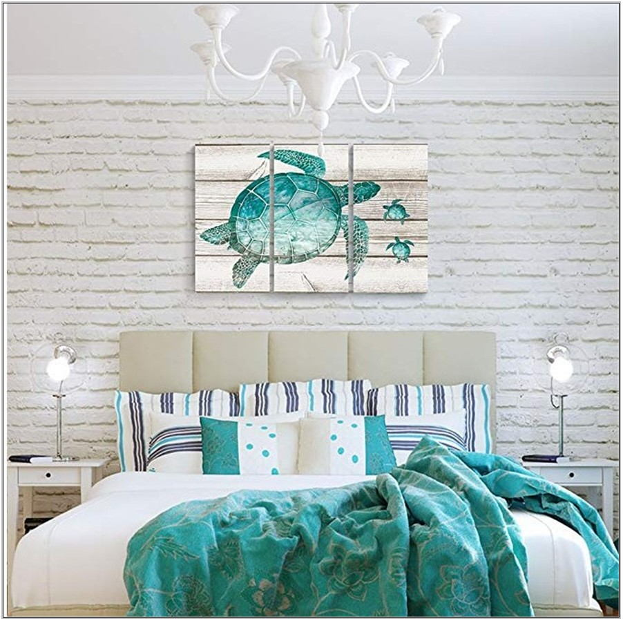 Teal Wall Art For Living Room