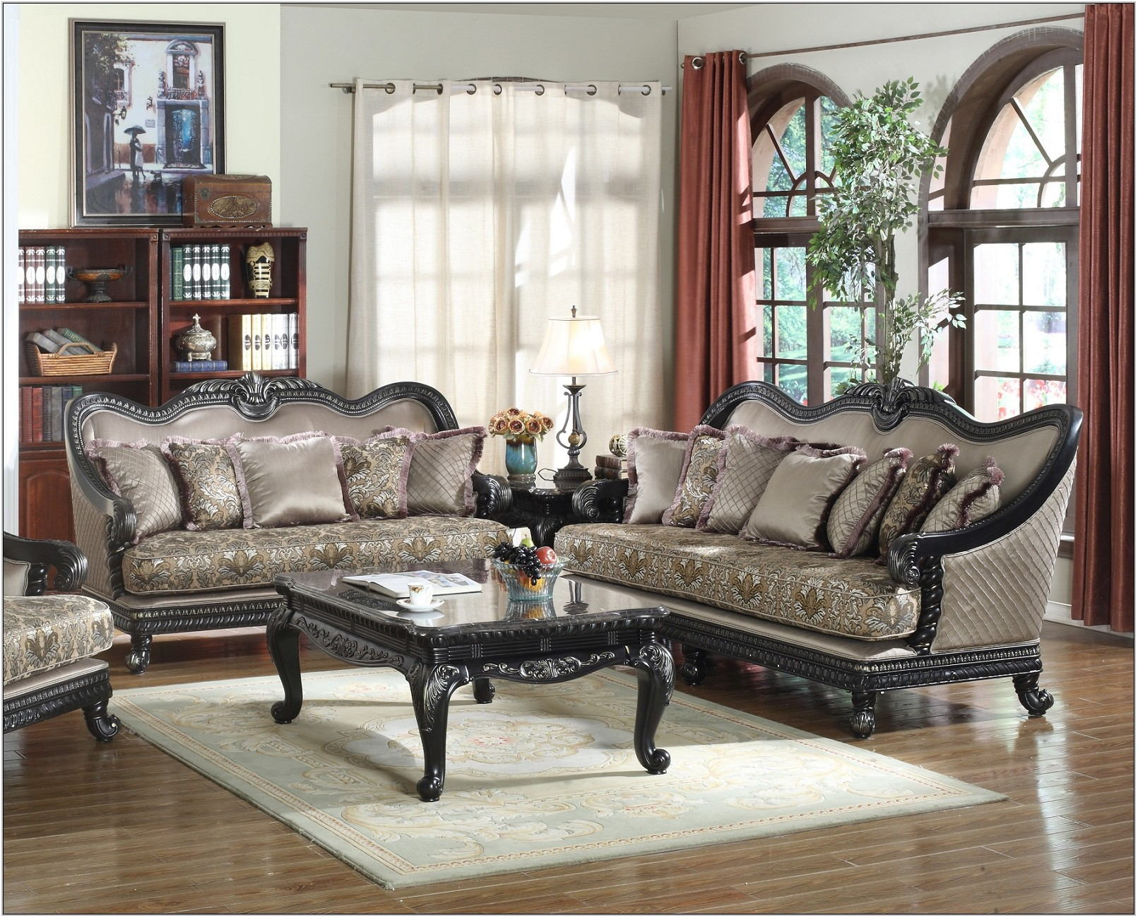 Traditional Living Room Sofa Set