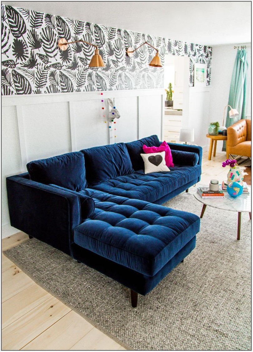 Velvet Couch Living Room