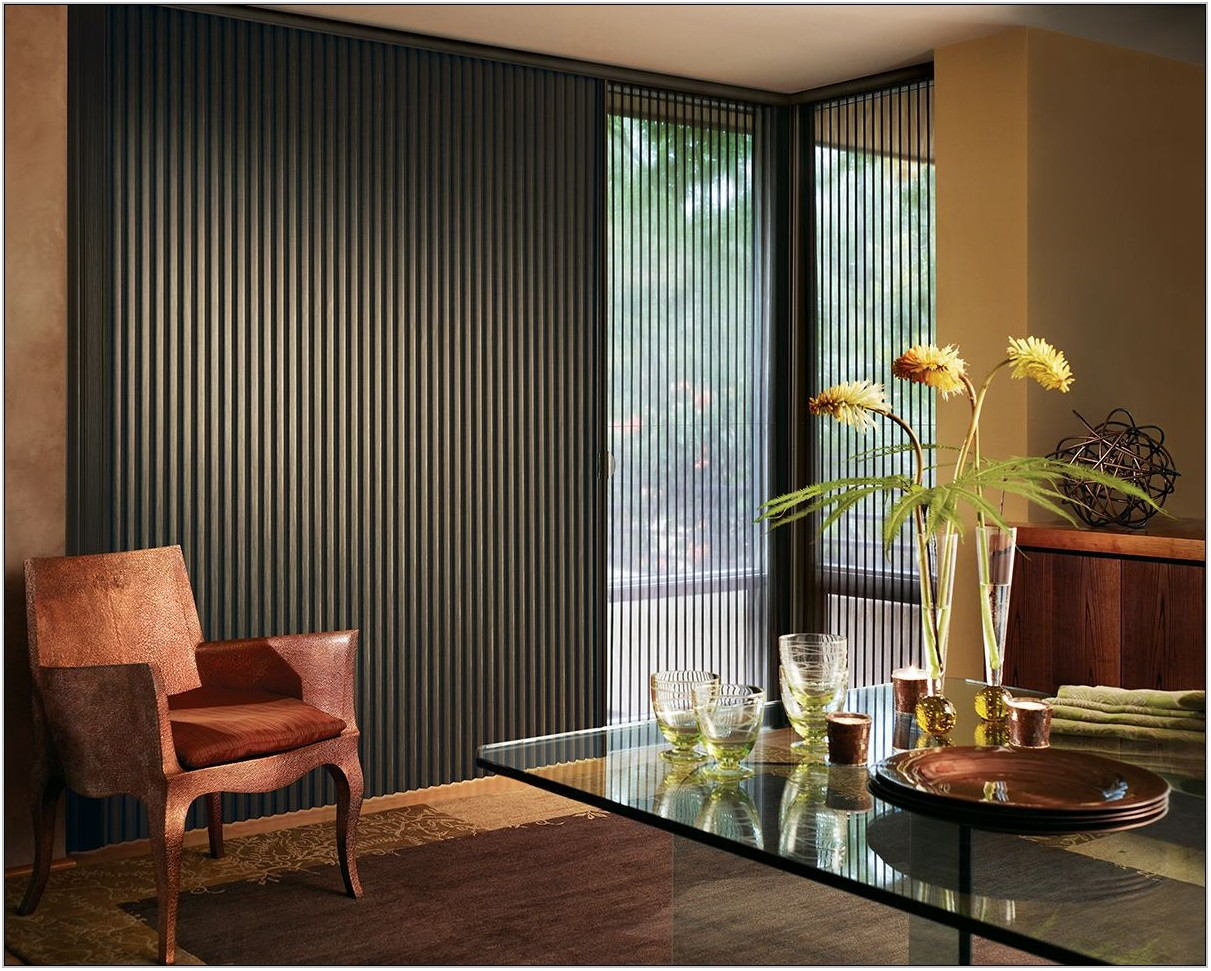 Vertical Blinds Living Room Window