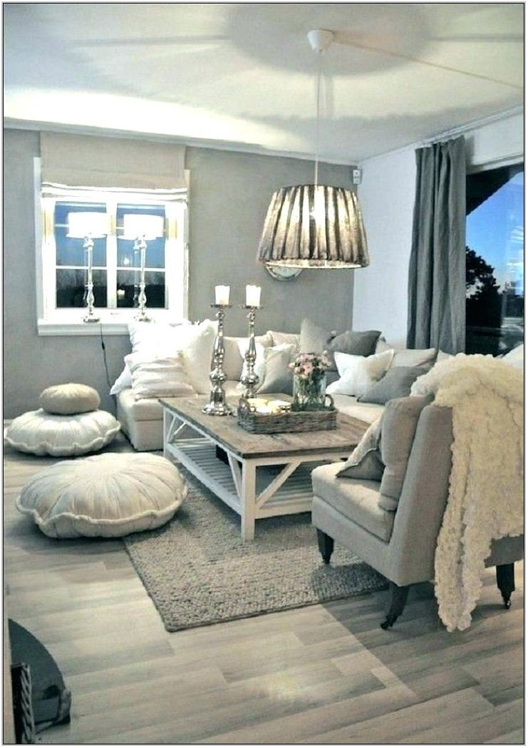 White And Grey Living Room Rug