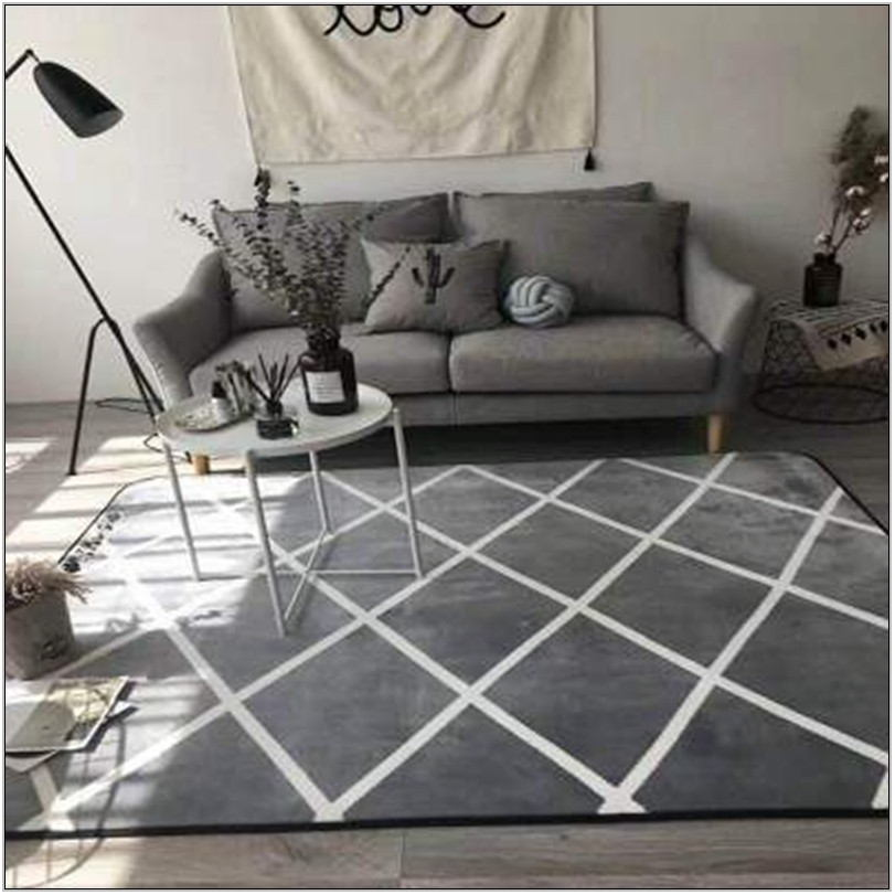 White Area Rugs For Living Room
