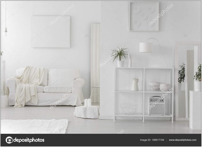 White Cabinet Living Room