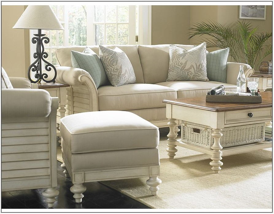 White Distressed Living Room Furniture