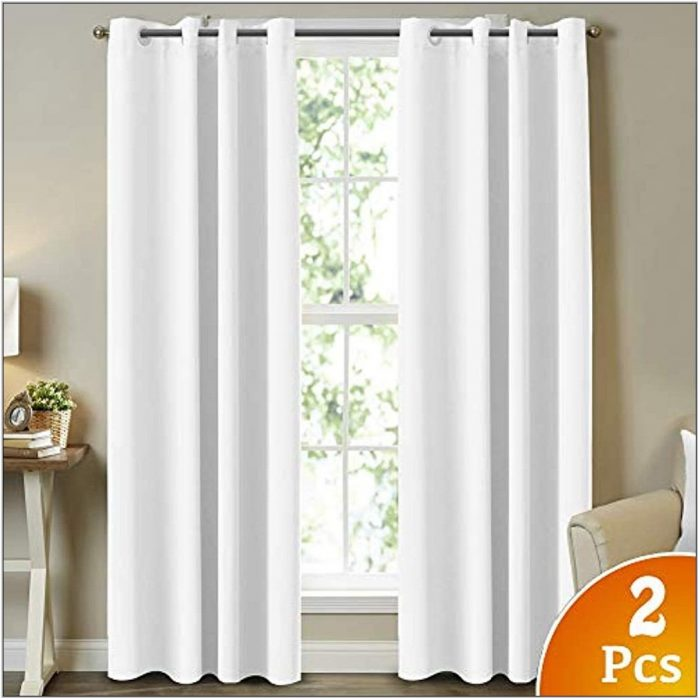 White Drapes For Living Room