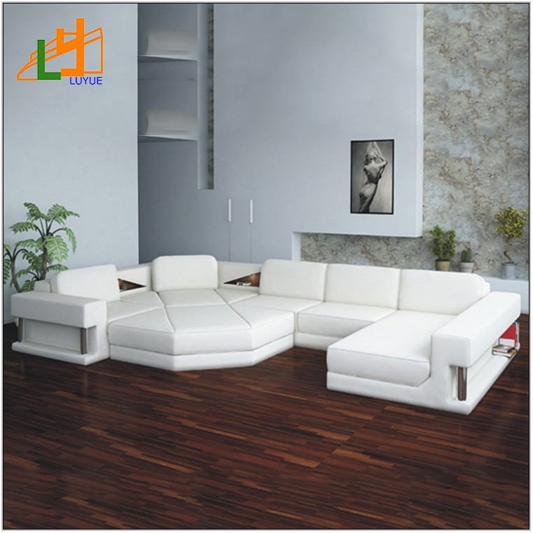 White Elegant Living Room Furniture