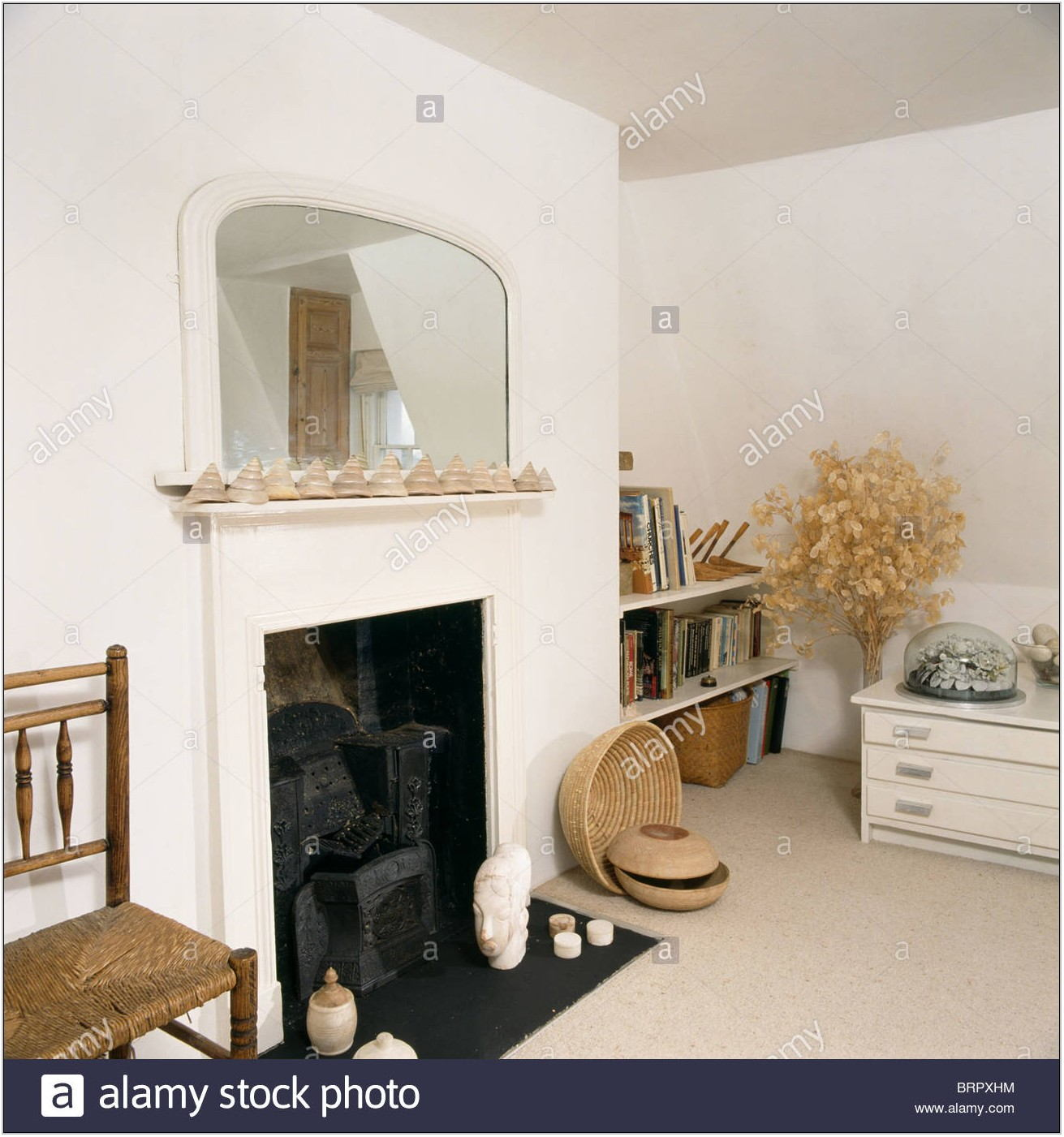 White Living Room Mirror
