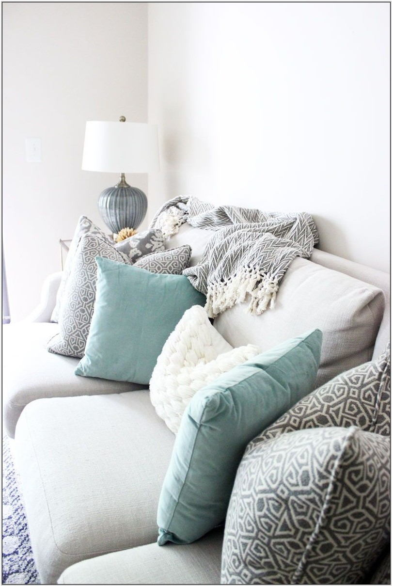 White Living Room Pillows