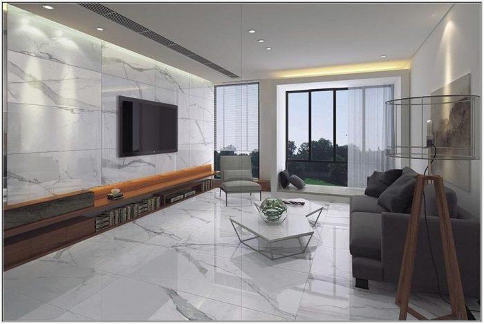 White Marble Floor Living Room