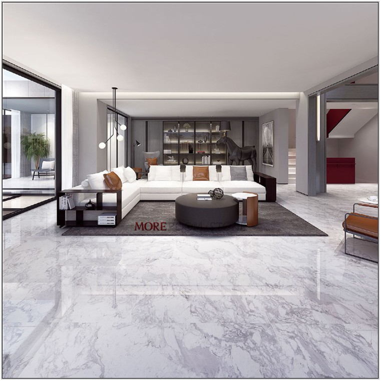 White Marble Floor Tiles For Living Room