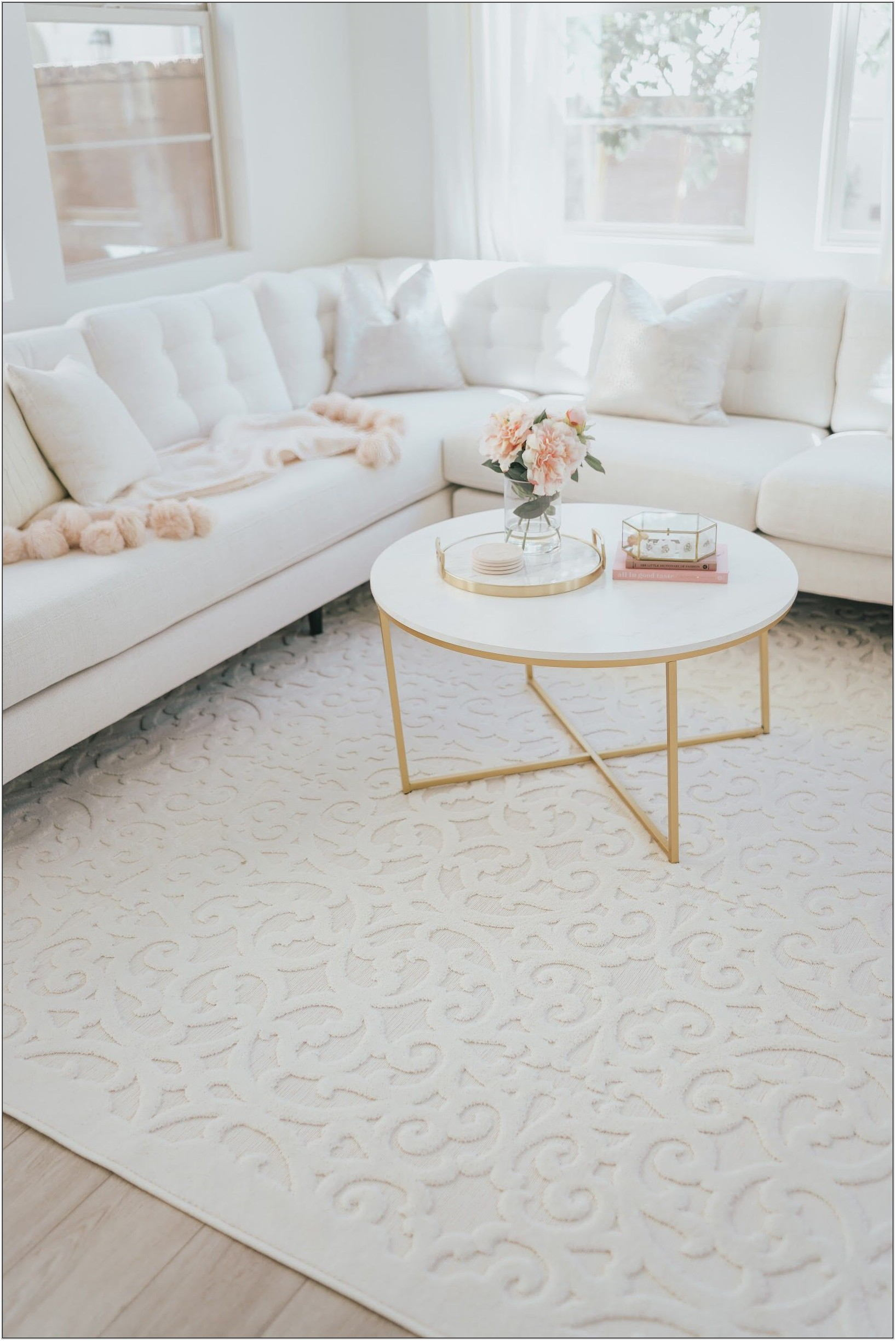 White Marble Living Room Table