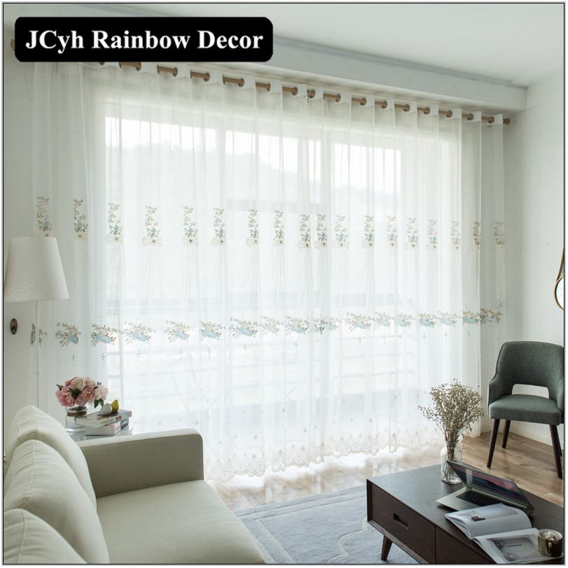 White Modern Curtains For Living Room