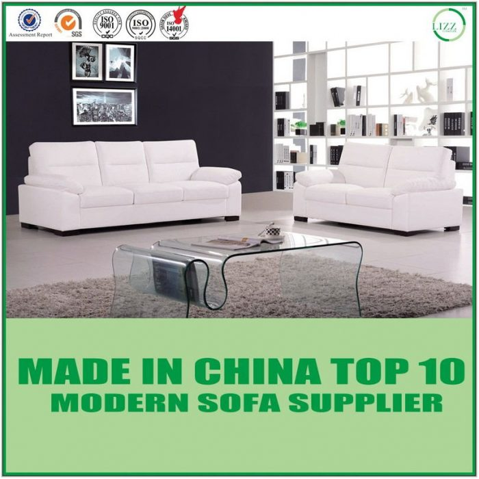 White Sectional Living Room Set