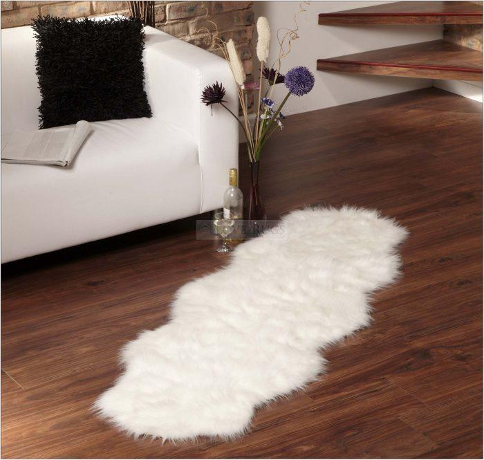 White Sheepskin Rug Living Room