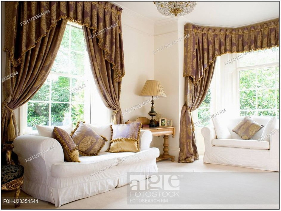 White Silk Curtains Living Room