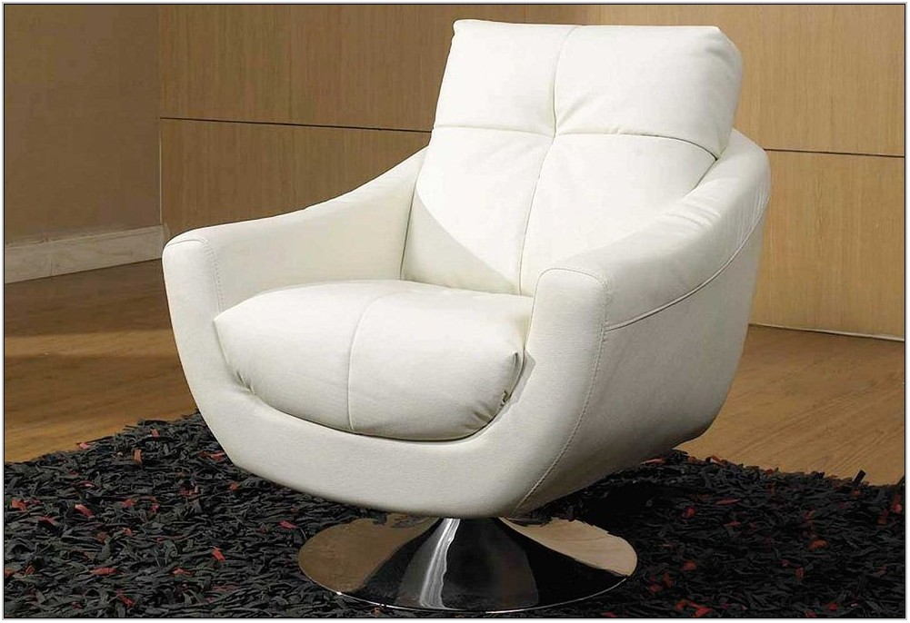 White Swivel Chairs For Living Room