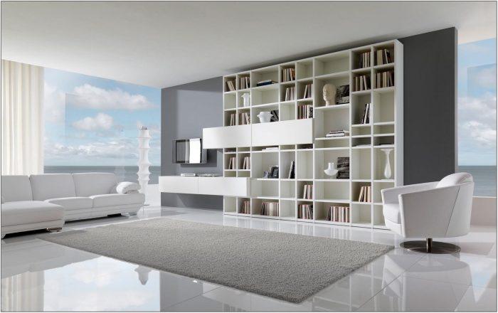 White Tile Living Room