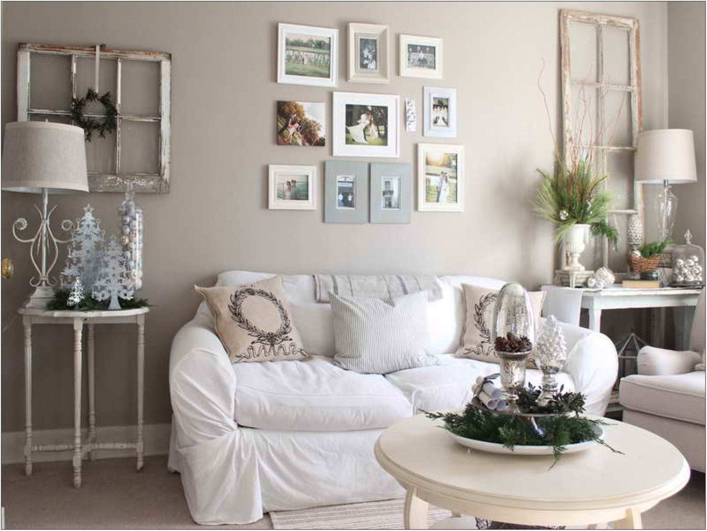White Wall Decor For Living Room