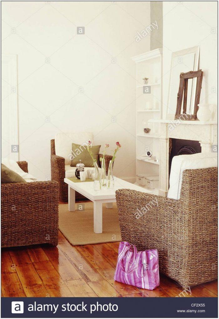 White Wood Floors Living Room