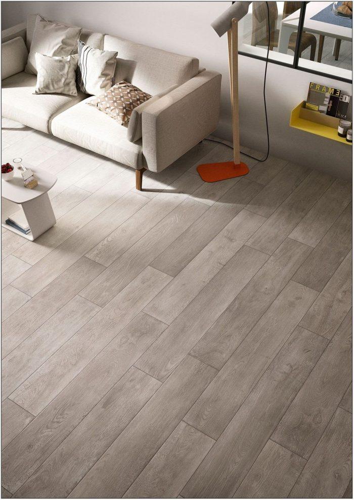 Wood Tile Floor Living Room