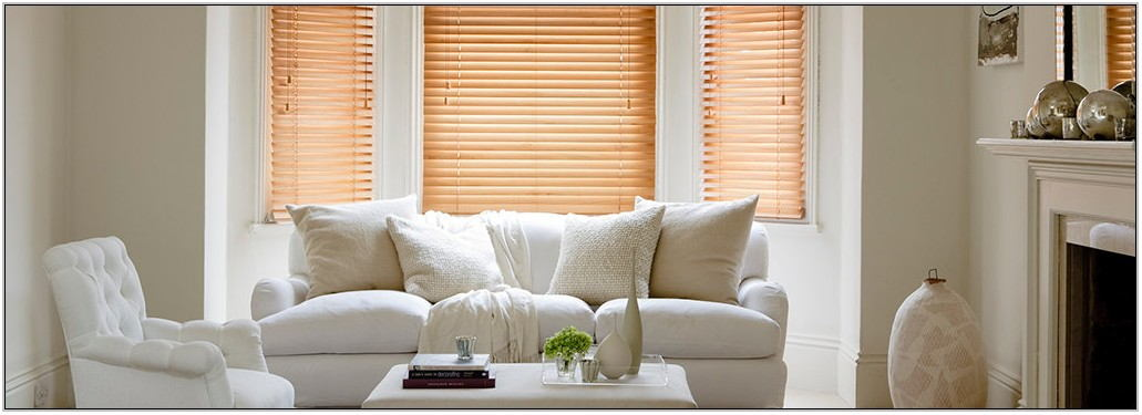 Wooden Blinds Living Room