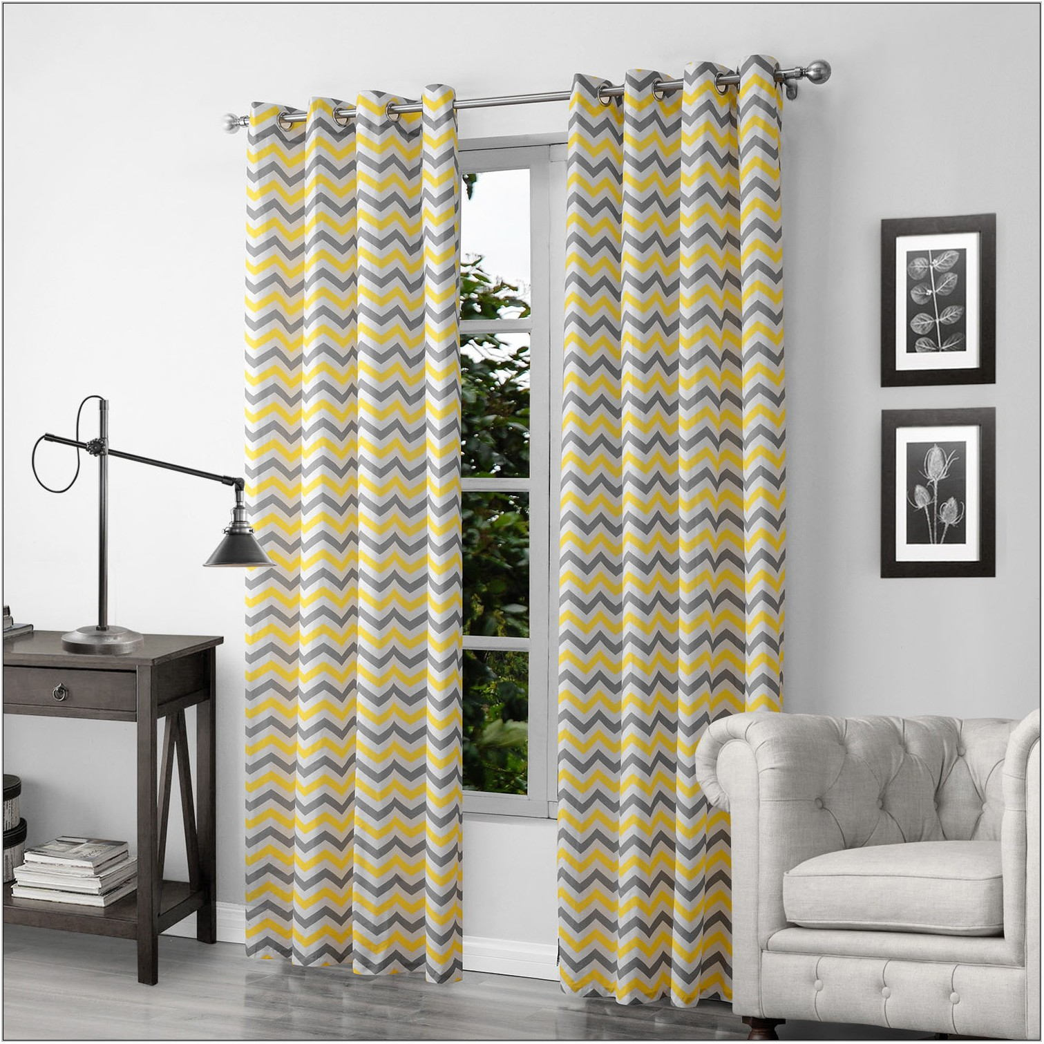 Yellow And Gray Living Room Curtains