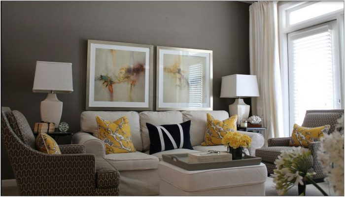 Yellow And Gray Living Room Furniture