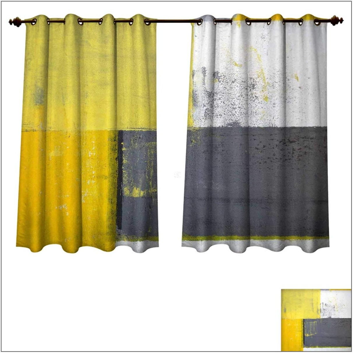 Yellow And Grey Curtains For Living Room