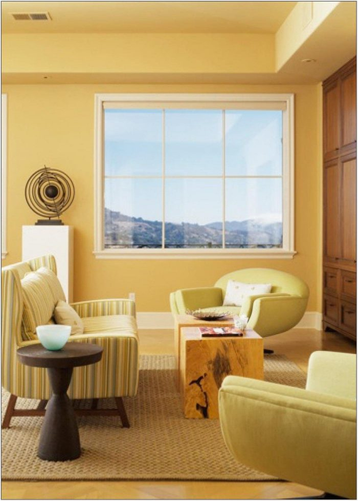 Yellow Paint Living Room Ideas