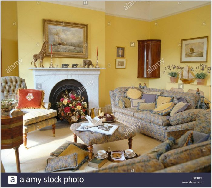 Yellow Sofas In Living Room