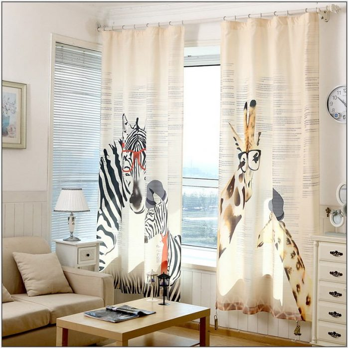 Zebra Curtains For Living Room