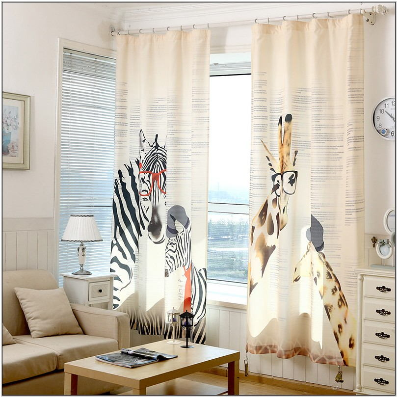 Zebra Curtains For Living Room