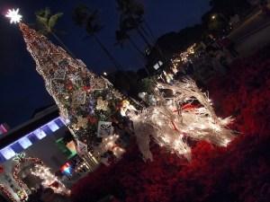 Christmas at Honolulu Hale - Big Tree and Reindeer
