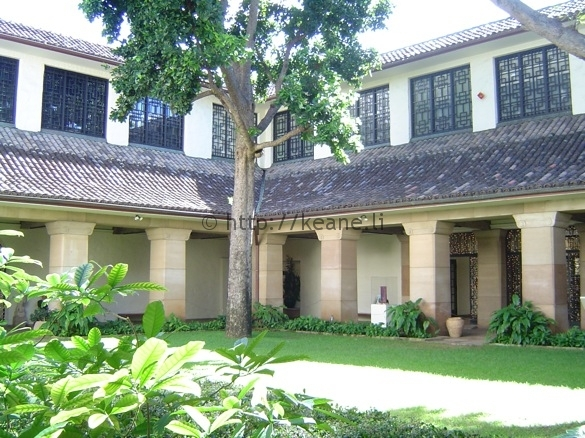 Entrance Courtyard of the Honolulu Museum of Art
